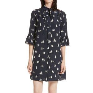 NWT Kate Spade navy husky print dress